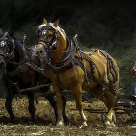 F Leblanc - Riding the Plow - Painting