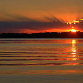 Jen T - Rippled Lake Sunset