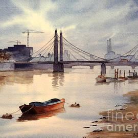 Bill Holkham - River Thames Towards Chelsea