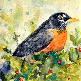 Beverley Harper Tinsley - Robin in the Holly