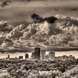 Tim Buisman - Rochester NY Skyline in Sepia