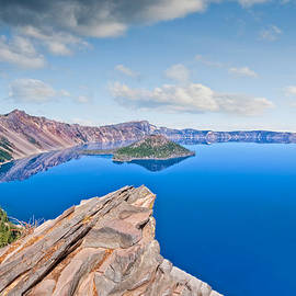 Jeff Goulden - Rock Outcrop Overlooking Crater Lake