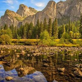 Lynn Bauer - Rock Reflections on the Merced