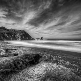 The  Vault - Jennifer Rondinelli Reilly - Rockaway Beach Pacifica California Black and White 2