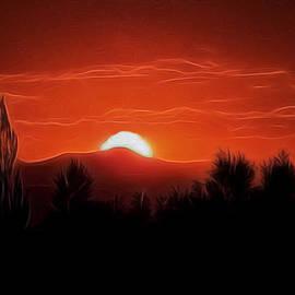 Ernie Echols - Rocky Mountain Sunset Digital Art