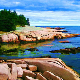 Bill Caldwell -        ABeautifulSky Photography - Rocky Point at Great Waas - Painterly