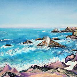 Asha Carolyn Young - Rocky Sonoma Shore and Crashing Waves