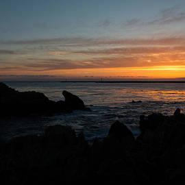 John Daly - Rocky Sunset at Corona Del Mar