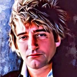 Scott Wallace - Rod Stewart Portrait