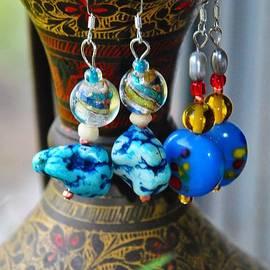 ARTography by Pamela Smale Williams - Roman Inspired Earrings