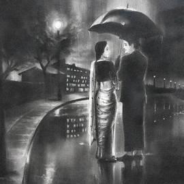 Artist Vivekananad Patil - Romance in the Rain