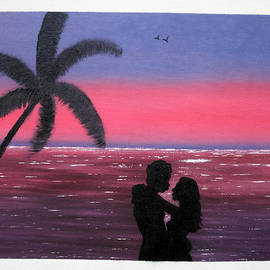 Ambily N - Romantic Couple At Sunset
