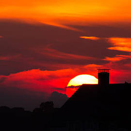 Kirkodd Photography Of New England - Rooftop Sunset Silhouette