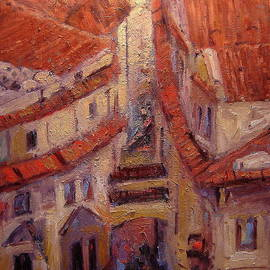 R W Goetting - Rooftops of Melantrichova Lane in Prague