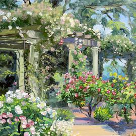 Dominique Amendola - Rose garden with pergolas
