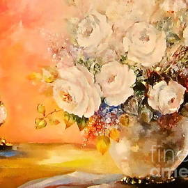 Patricia Schneider Mitchell - Roses and Candlelight