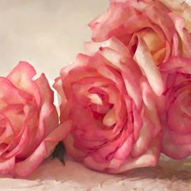 Sandra Foster - Rosy Elegance Digital Watercolor