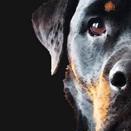 Sharon Cummings - Rottie Love - Rottweiler Art By Sharon Cummings