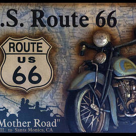 Thomas Woolworth - Route 66 Odell IL Gas Station Motorcycle Signage