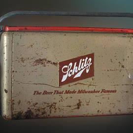 Route 66 Odell IL Gas Station Schlitz Beer Cooler Digital Art