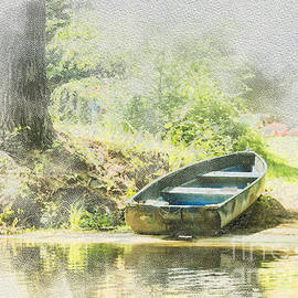 Nancy RC Hebert - Rowboat on the Swift River