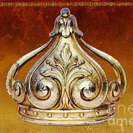 ArtyZen Home - ArtyZen Studios - Royal Baby Gold Crown on Cognac Gilded Leather