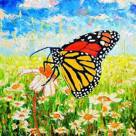 Ana Maria Edulescu - Royal Monarch Butterfly In Daisies