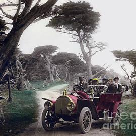 California Views Mr Pat Hathaway Archives - Royal Tourist touring car model G3 Pebble Beach Calif. circa 1908