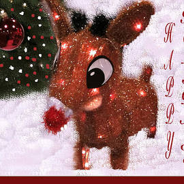 Debra     Vatalaro - Rudolph Reindeer Card