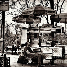 Miriam Danar - Runner and Hot Dog Stand - Central Park