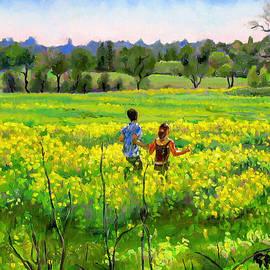 Dominique Amendola - Running in the mustard field