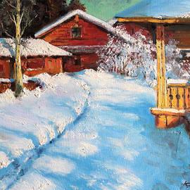 Mark Kremer - Rural motive. Russian winter