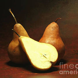 Inspired Nature Photography By Shelley Myke - Rustic Amber California Bosc Pears