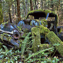 Peggy Collins - Rusty Old Truck and Car
