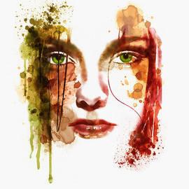 Marian Voicu - Sad Girl watercolor