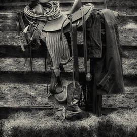 Jerry Fornarotto - Saddle and Gear Black and White