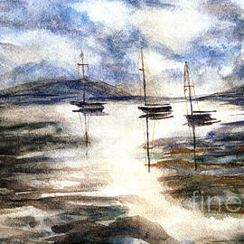 Randy Sprout - Sail Boats on The Mud Flats