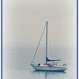 Barbara Henry - SAILBOAT blue and white