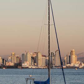 Lee Kirchhevel - Sailboat San Diego Skyline