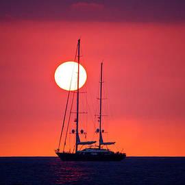 Venetia Featherstone-Witty - Sailboat Sunset