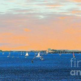 Janette Boyd - Sailboats at Sunset in Key West