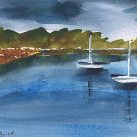 Frank Bright - Sailboats At Wilmington Island