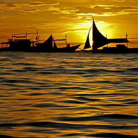 Harold Bonacquist - Sailboats in the Sunset Boracay Philippines No.2