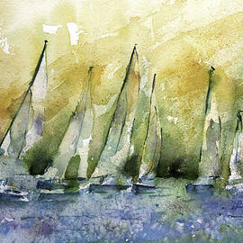 Lynne Furrer - Sailboats on Shimmer Lagoon
