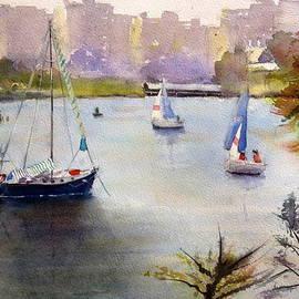 Sof Georgiou - Sailing in Brisbane River