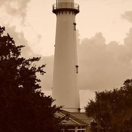 Bob Sample - Saint Simons Lighthouse In Sepia