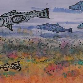 Carolyn Doe - Salmon in the Stream