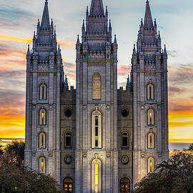 Jerry Fornarotto - Salt Lake Temple Sunset