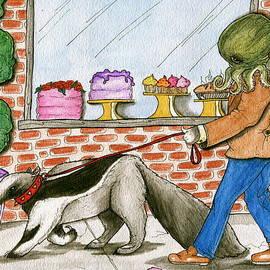 Julie McDoniel - Salty walks his Ant eater