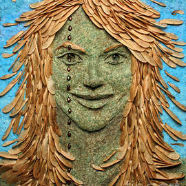 Adam Long - Samara a wall hanging relief sculpture by Adam Long